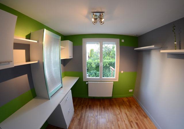 peindre bureau peinture verte u nuances de vert fraches en ides peinture verte nuance olive. Black Bedroom Furniture Sets. Home Design Ideas